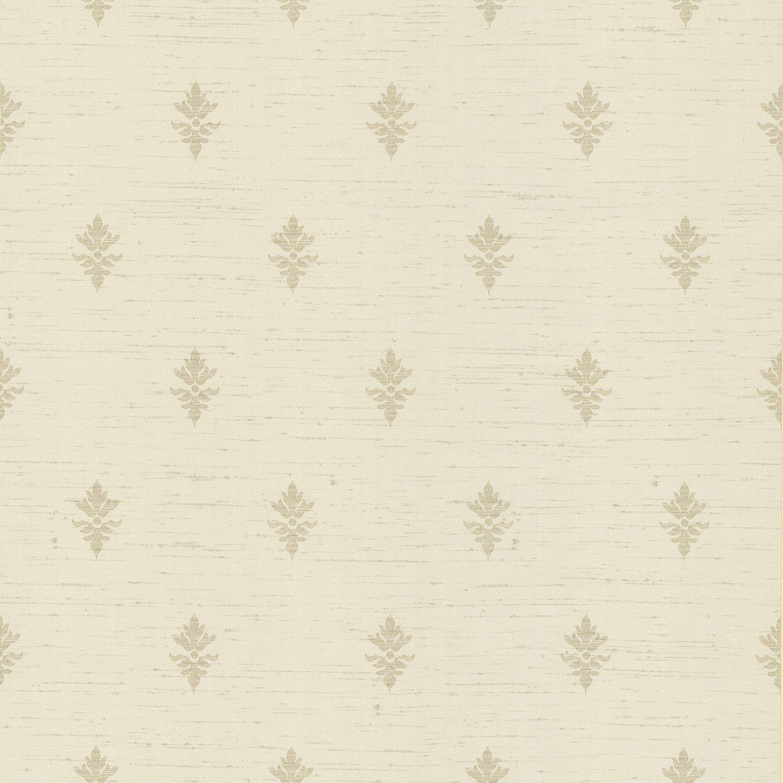 Beacon House Fleurette Fleur De Lis Wallpaper Beige Tan