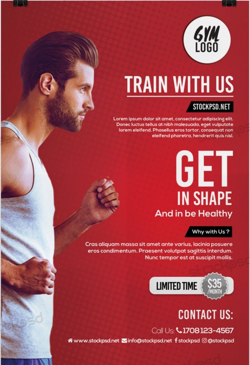Fitness Gym Download Free Psd Flyer Template