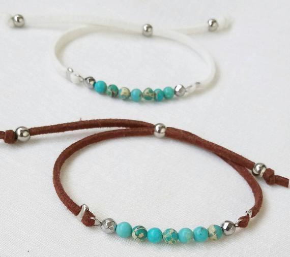 Turquoise bracelets Tiny turquoise bracelets Beaded bracelet Genuine turquoise beads bracelet Summer jewelry Free Shipping Christmas gift #beads