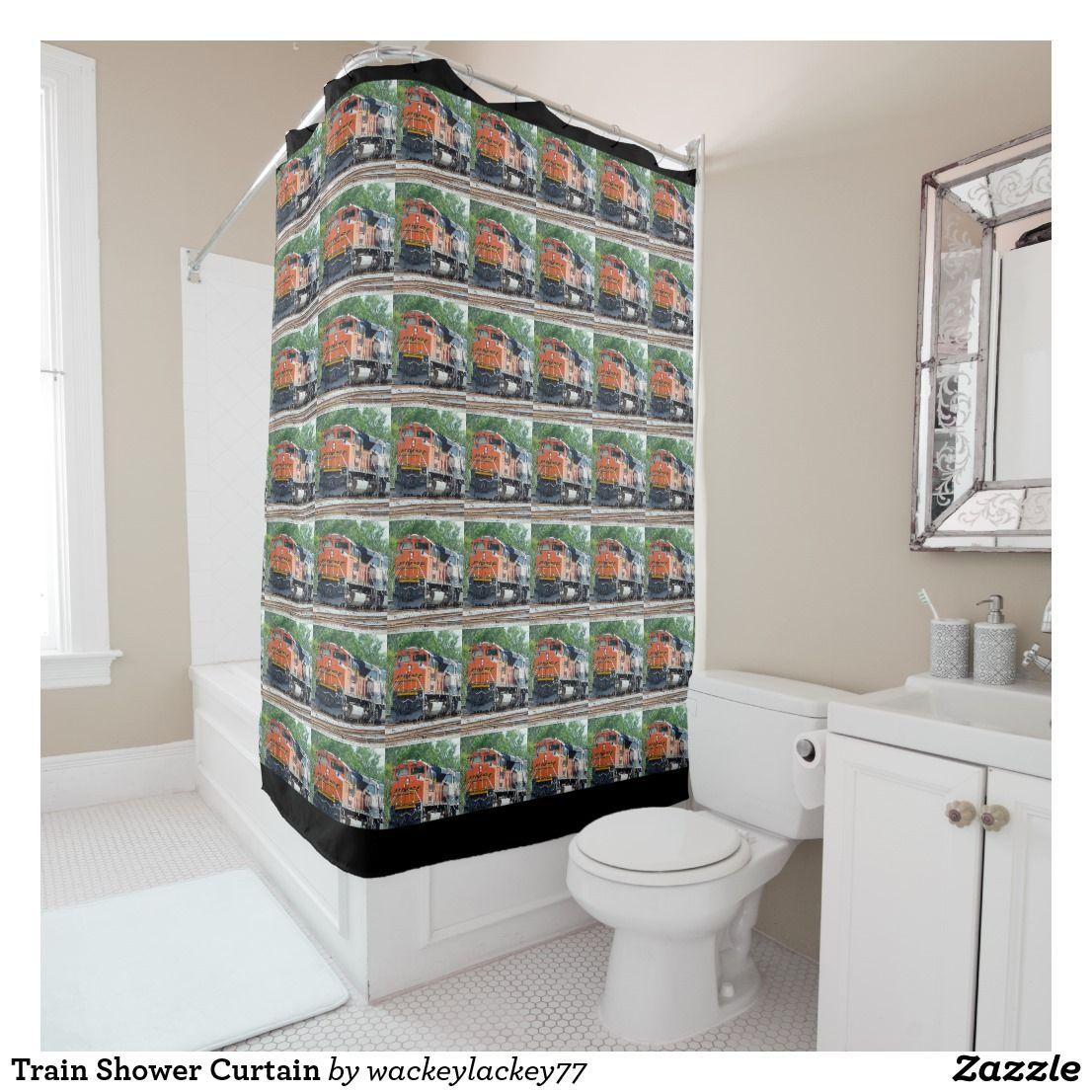 Train Shower Curtain Zazzle Com Custom Shower Curtains