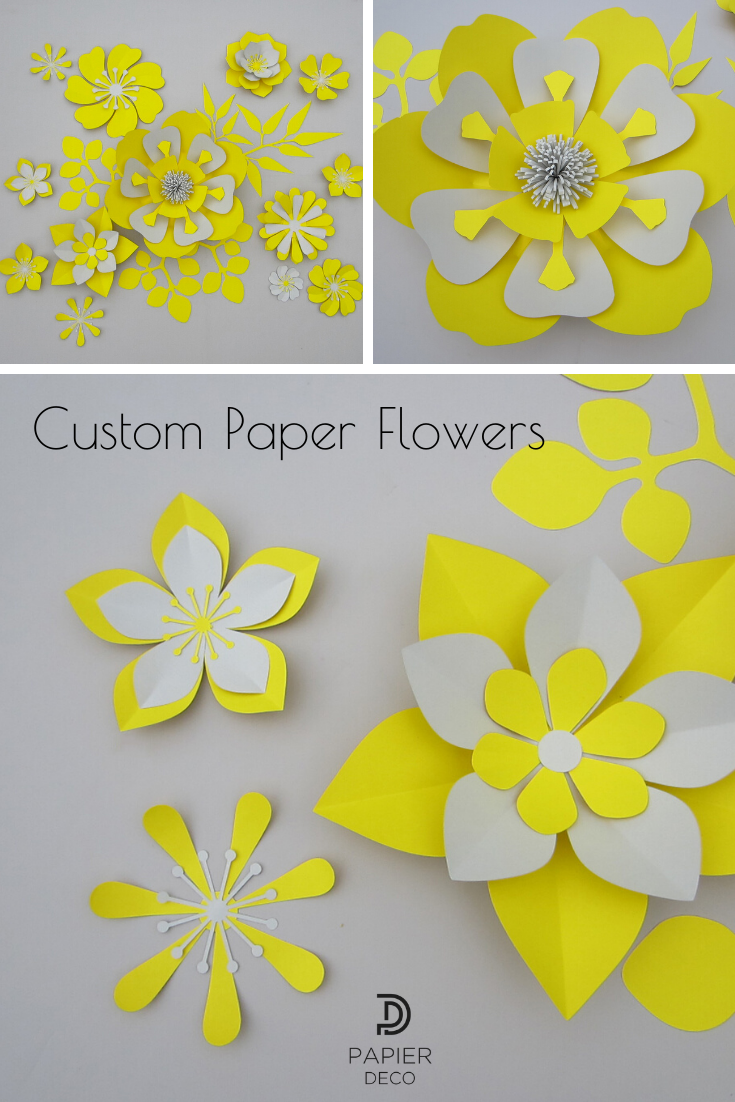 Paper Flower Wall, Nursery Wall Decor, Giant Paper Flowers Backdrop #easypaperflowers