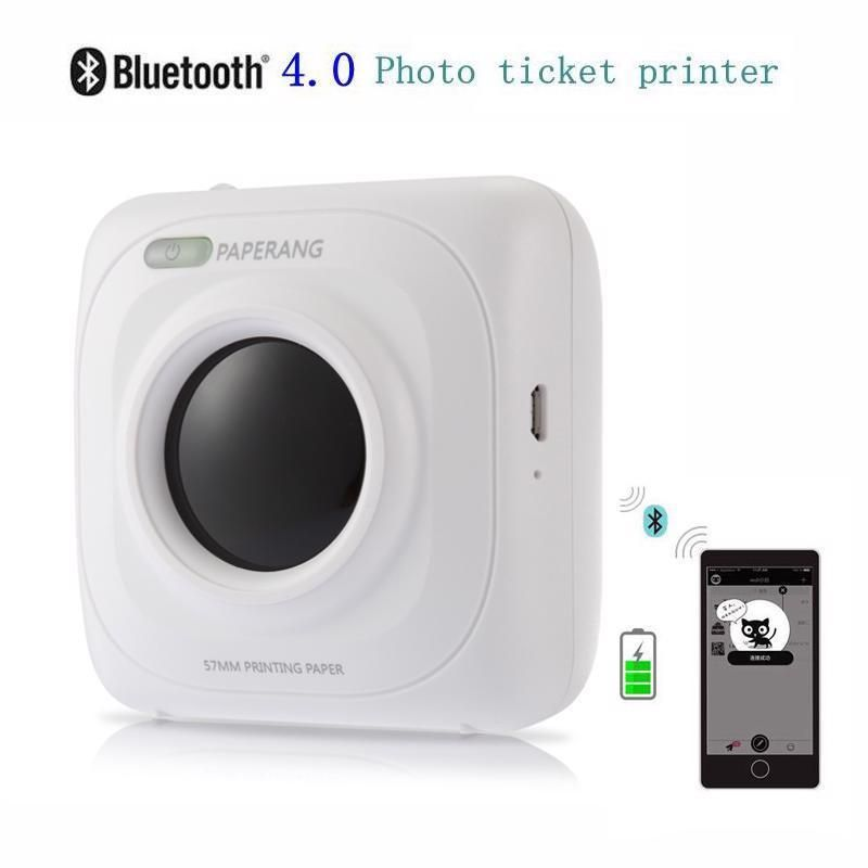 Portable Photo Printer Bluetooth Phone Wireless Connection Pocket