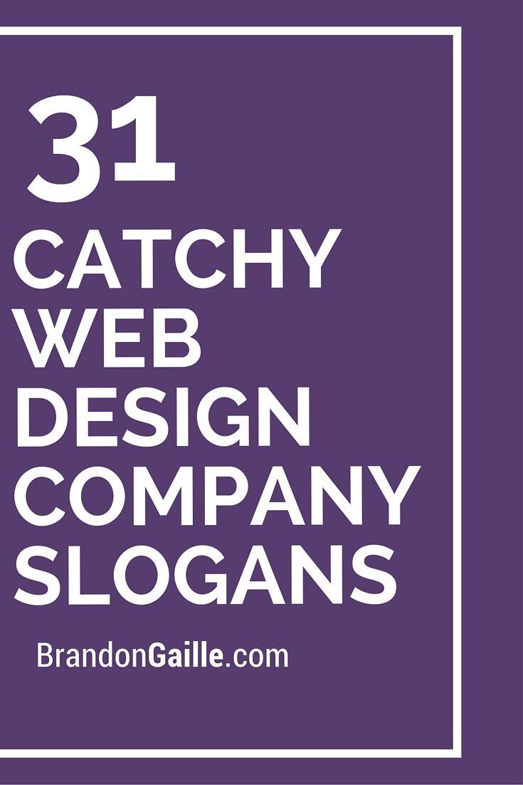 33 catchy web design company slogans | catchy slogans | web design