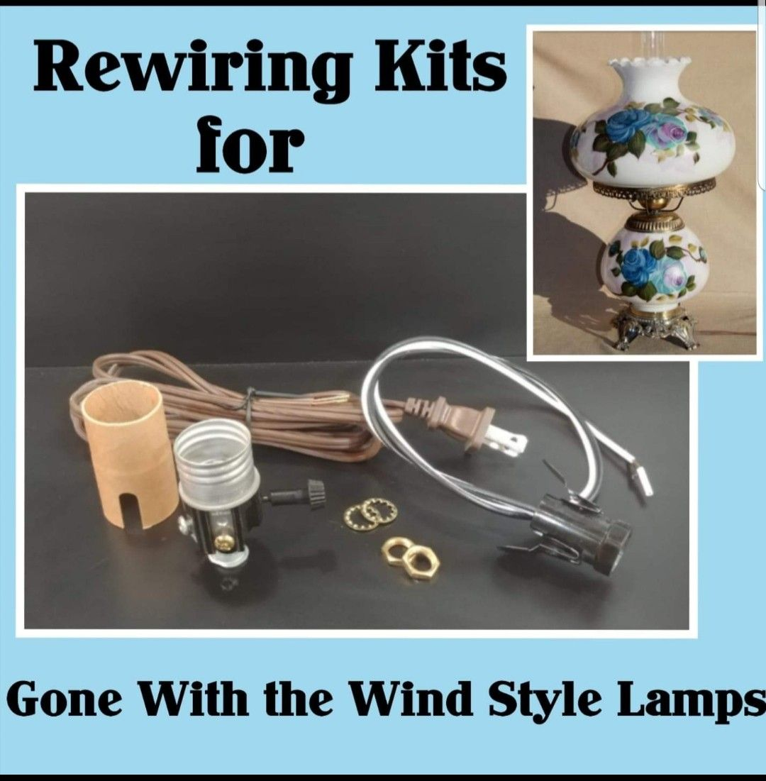 We Offer Complete Lamp Rewiring Kits For Vintage Gone With The Wind Style Lamps Including All Diagrams And Instructi Diy Lamp Shade Diy Tech Diy Craft Projects
