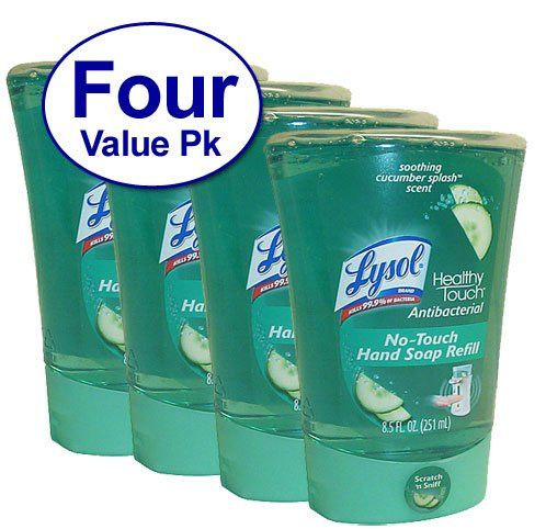 Lysol Notouch Hand Soap Refill Hydrating Cucumber Watermelon 85