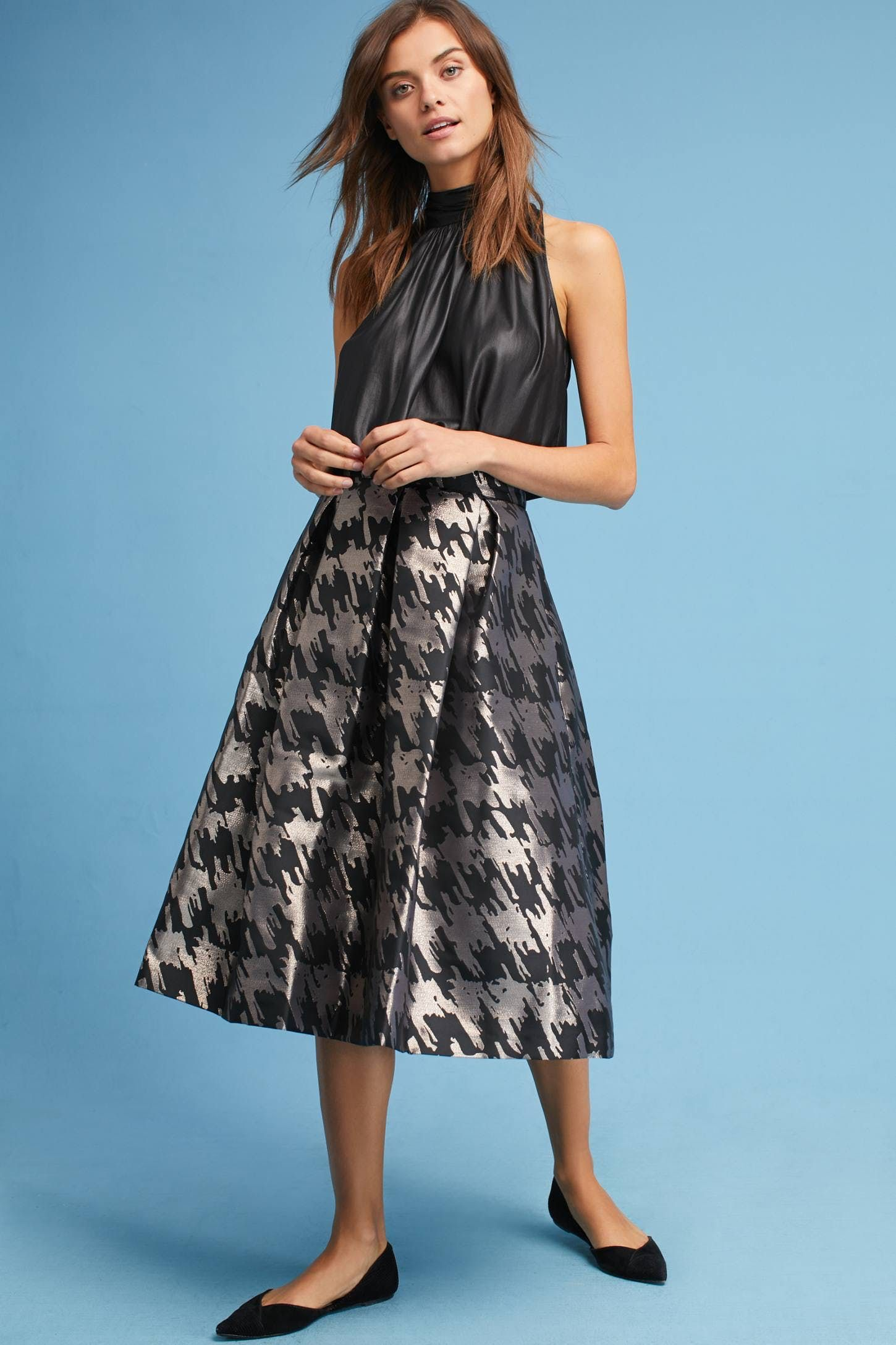 Jacquard houndstooth skirt houndstooth skirt houndstooth and