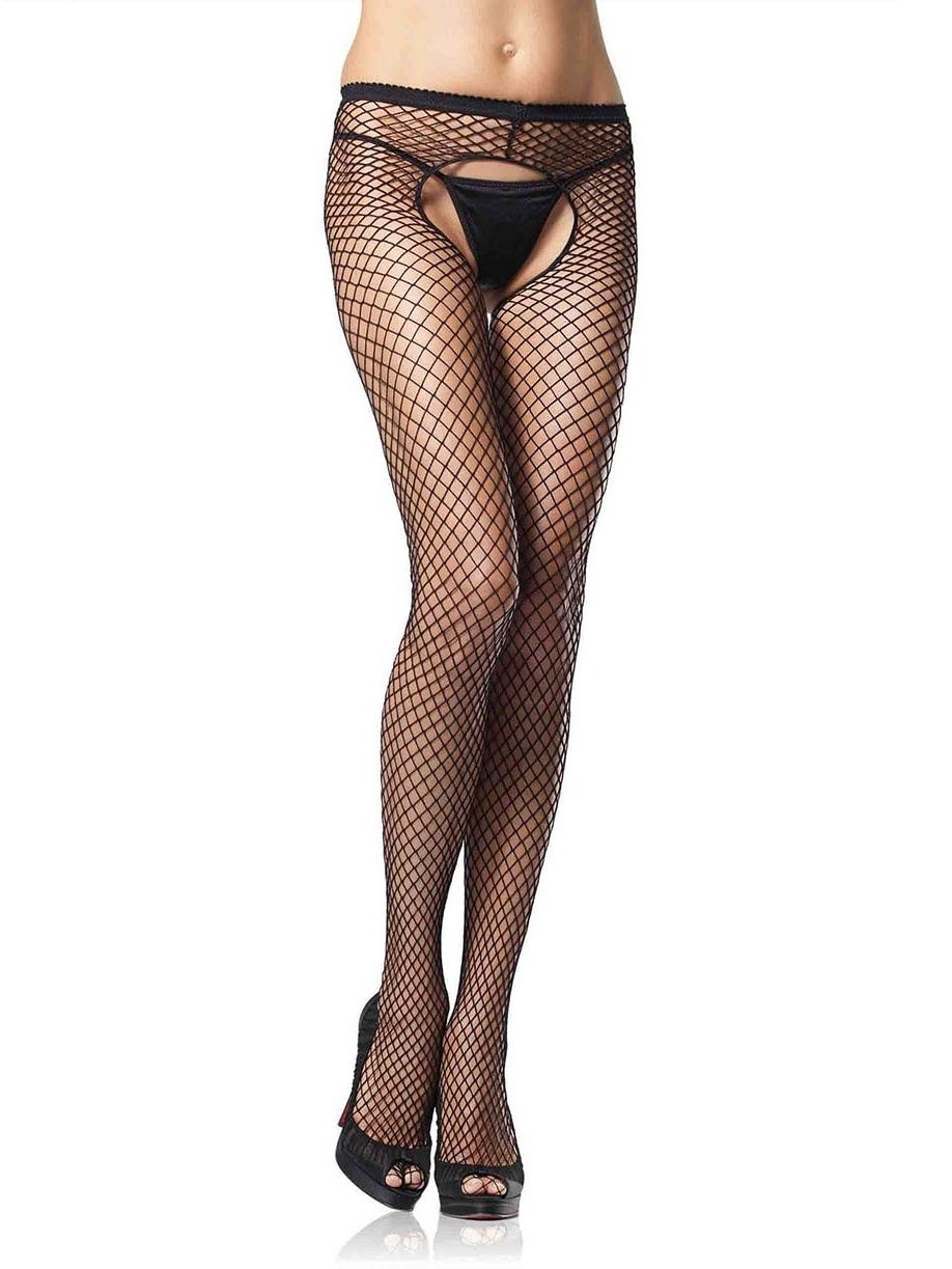 adf56081594 Leg Avenue Women s Industrial Net Crotchless Pantyhose