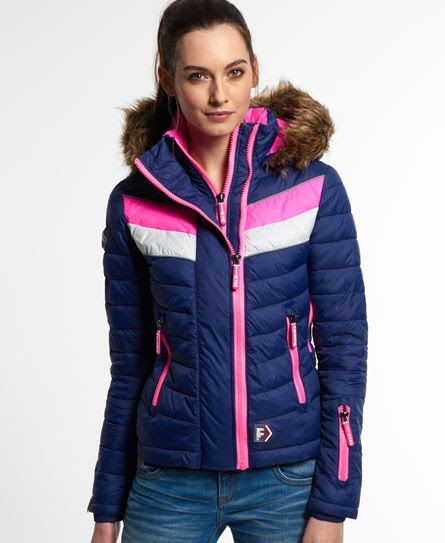 Shop Superdry Womens Chevron Fuji Snow Edition Jacket in Vermont Blue. Buy  now with free delivery from the Official Superdry Store.