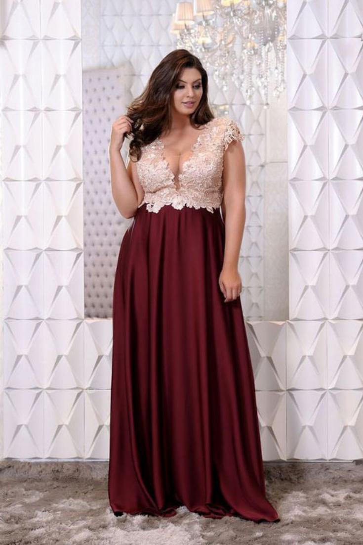 55 Vestidos De Fiesta Para Gorditas Para El 2019 Metodos Para Ligar Wedding Dresses Plus Size Gala Dresses Plus Size Gowns