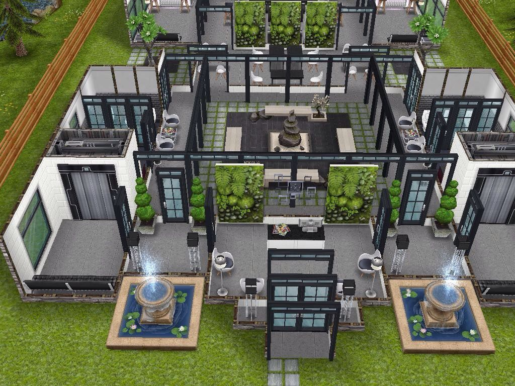 House 97 Luxury Resort Ground Level Sims Simsfreeplay Simshousedesign Arsitektur Rumah Desain Rumah Arsitektur