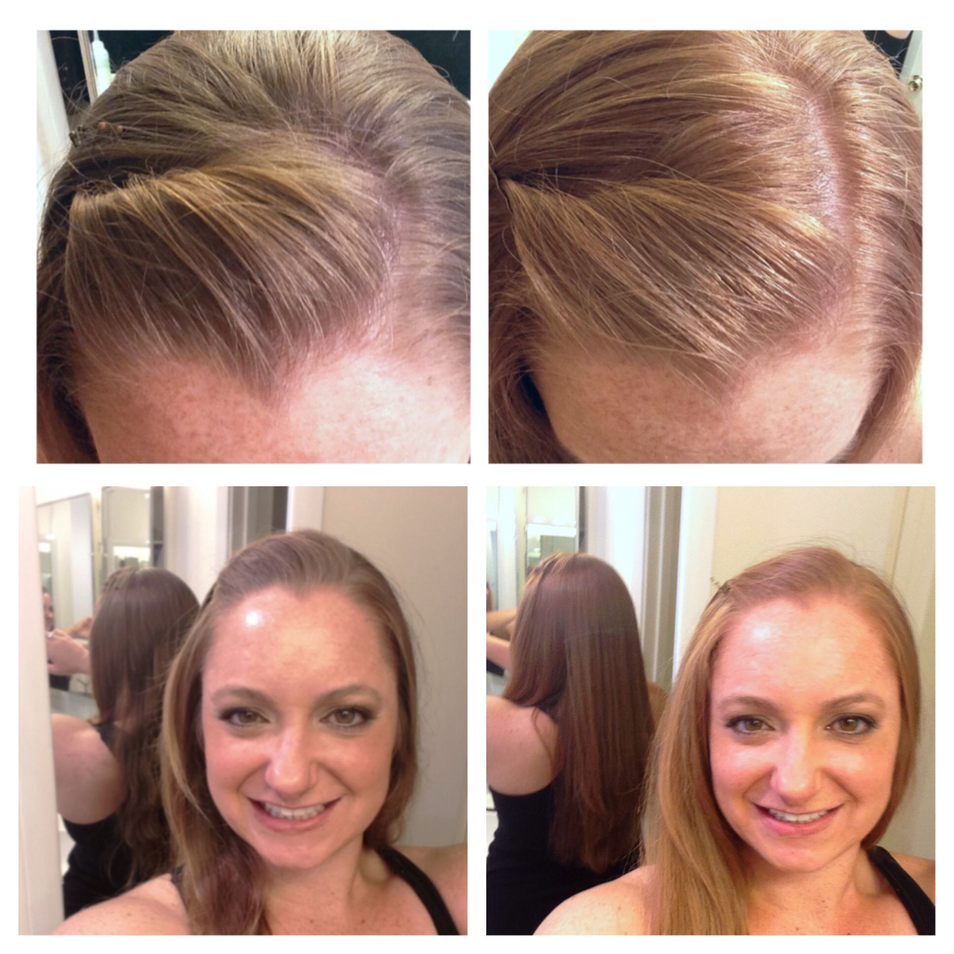 Before And After Clairol Natural Instincts 4 Sunflower Medium