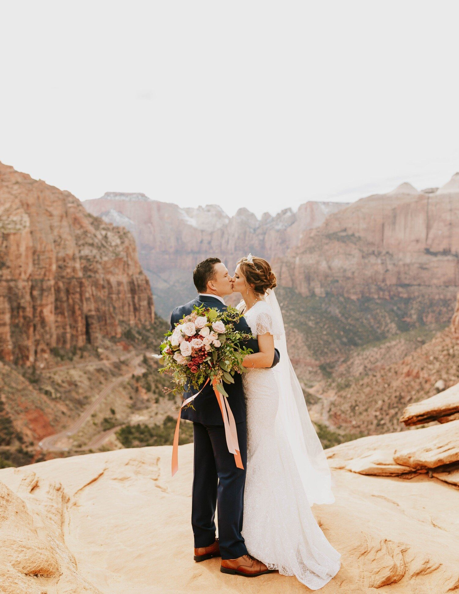 Zion National Park Wedding Portraits Jessa E Photographs In 2020 Utah Wedding Photographers National Park Wedding Wedding Portraits