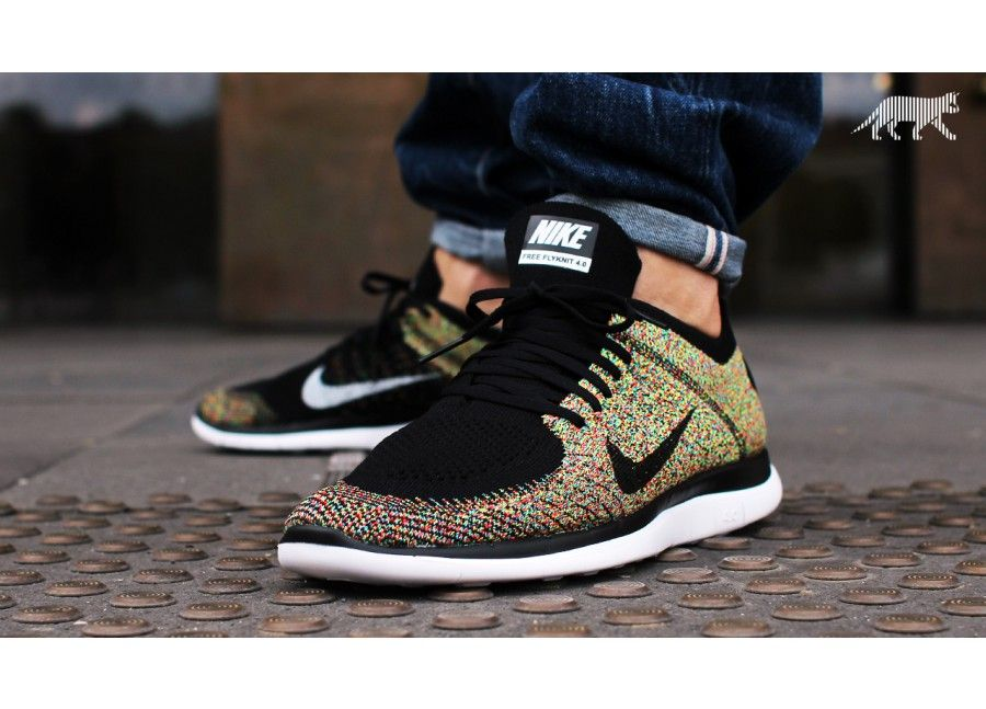 low priced e8885 88ce8 Nike Free 4.0 Flyknit Multicolor | Sneaker | Nike free, Nike ...