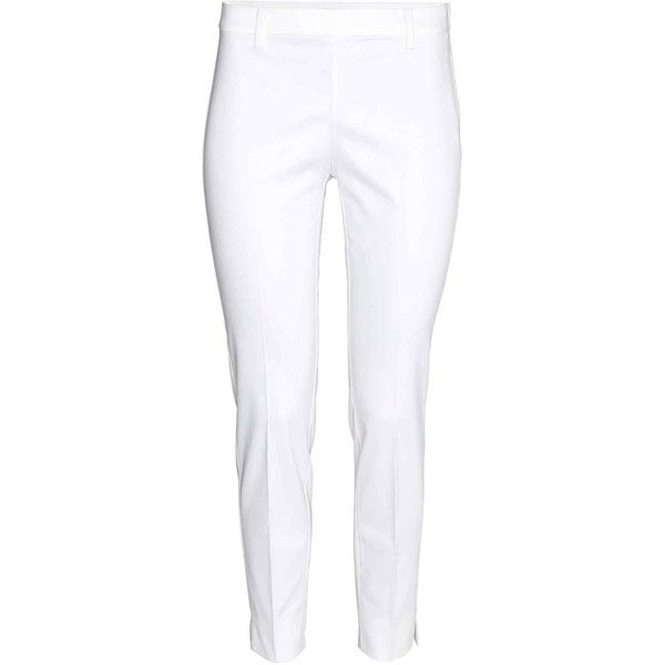 Cigarette trousers (145 SEK) ❤ liked on Polyvore featuring pants, pocket pants, tapered trousers, cigarette trousers, tapered pants and ankle length pants