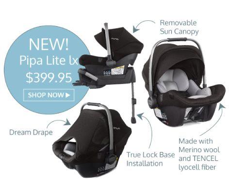 Nuna Pipa Lite LX Infant Car Seat With Base 39995