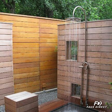 Make An Outdoor Wood Shower Without