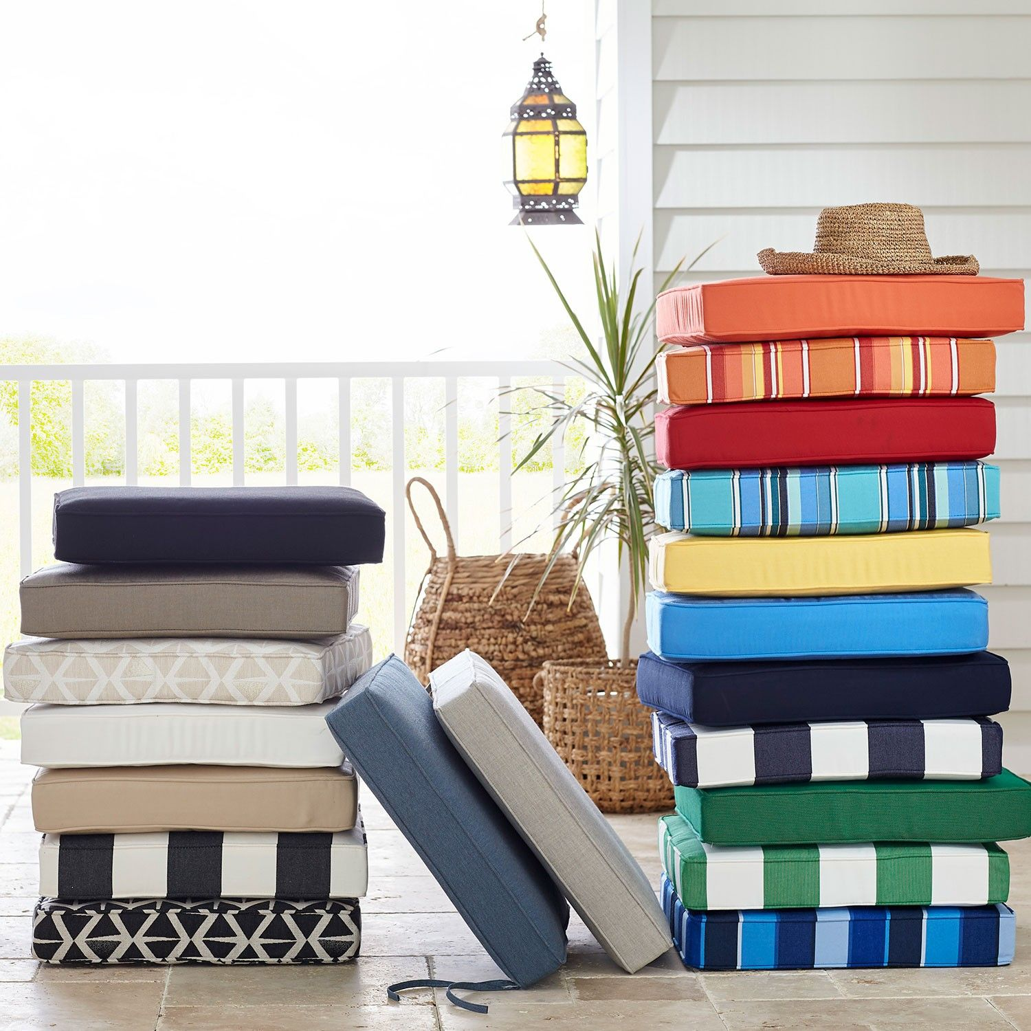 Sunbrella Outdoor Replacement Chair Cushions The Company Store 19 5x18 Or 20x Sunbrella Outdoor Cushions Outdoor Cushions And Pillows Outdoor Furnishings