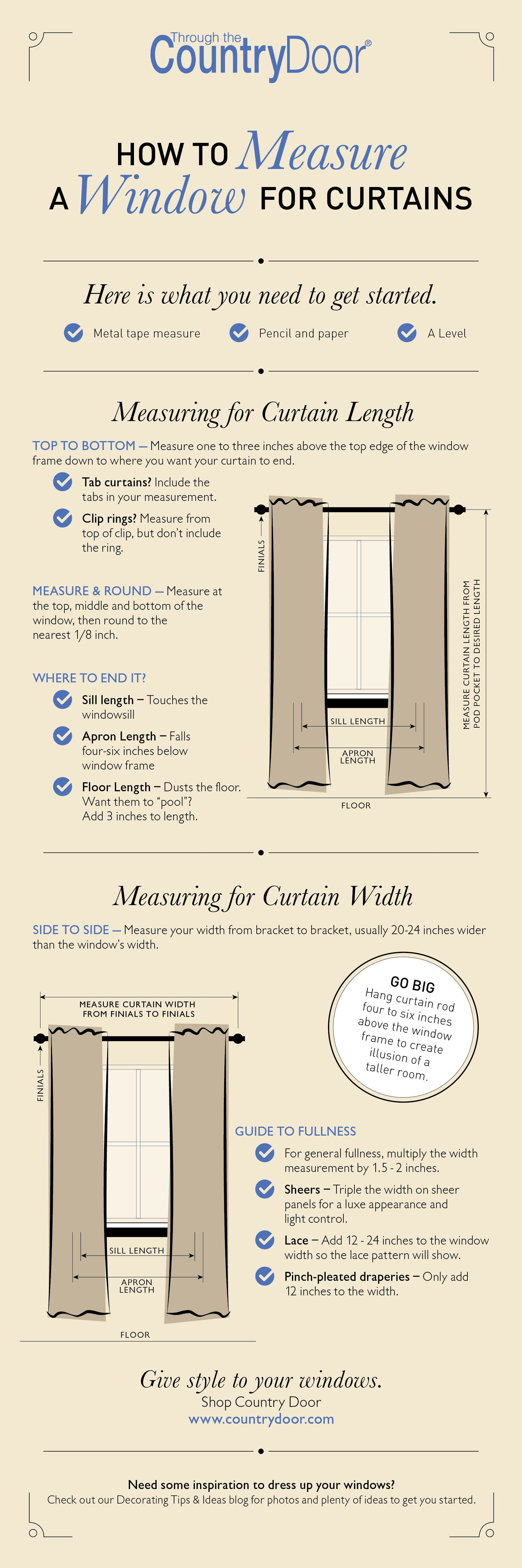 How to measure a window for curtains diy curtains