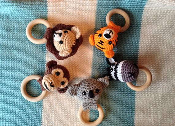 Jungle Animals Teething Rings Series (PATTERNS ONLY) #junglepattern