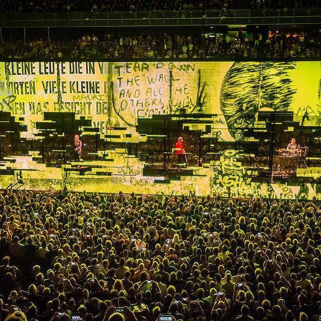 """""""I am not invisible, I am here"""" #U2 #U2ieTour Photo by Ben Houdijk"""