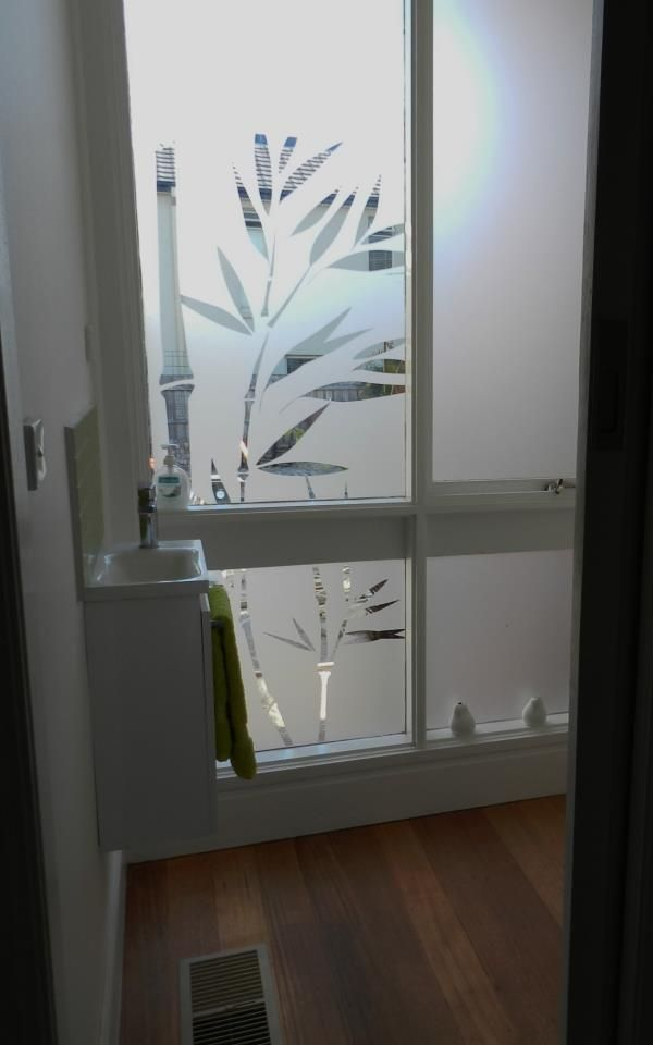 Frosted Bathroom Film Bamboo Design Decorative Window