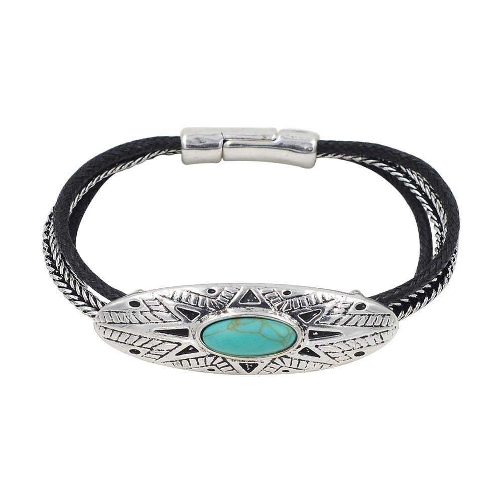 Multi hasp bracelet for women boho silver gold sun bracelets