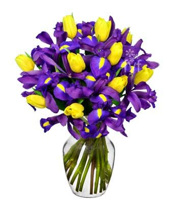 Sunny Tulip And Iris Bouquet At From You Flowers Iris Bouquet Flower Delivery Blue Iris Flowers