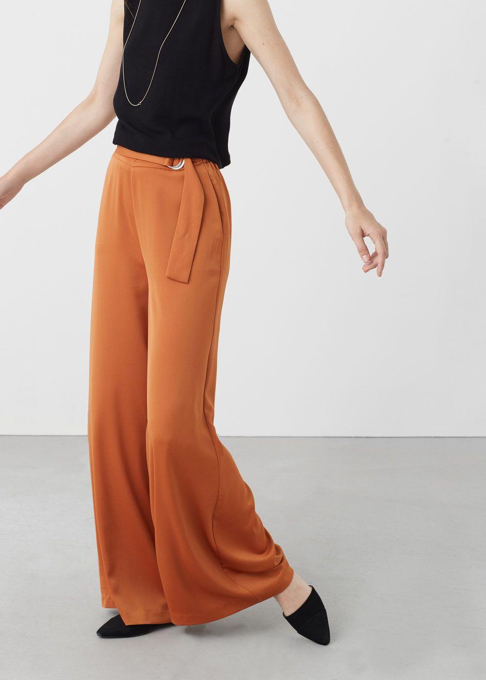 7097267af1 Pantaloni palazzo cintura - Donna | fashion | Pantalones palazzo ...