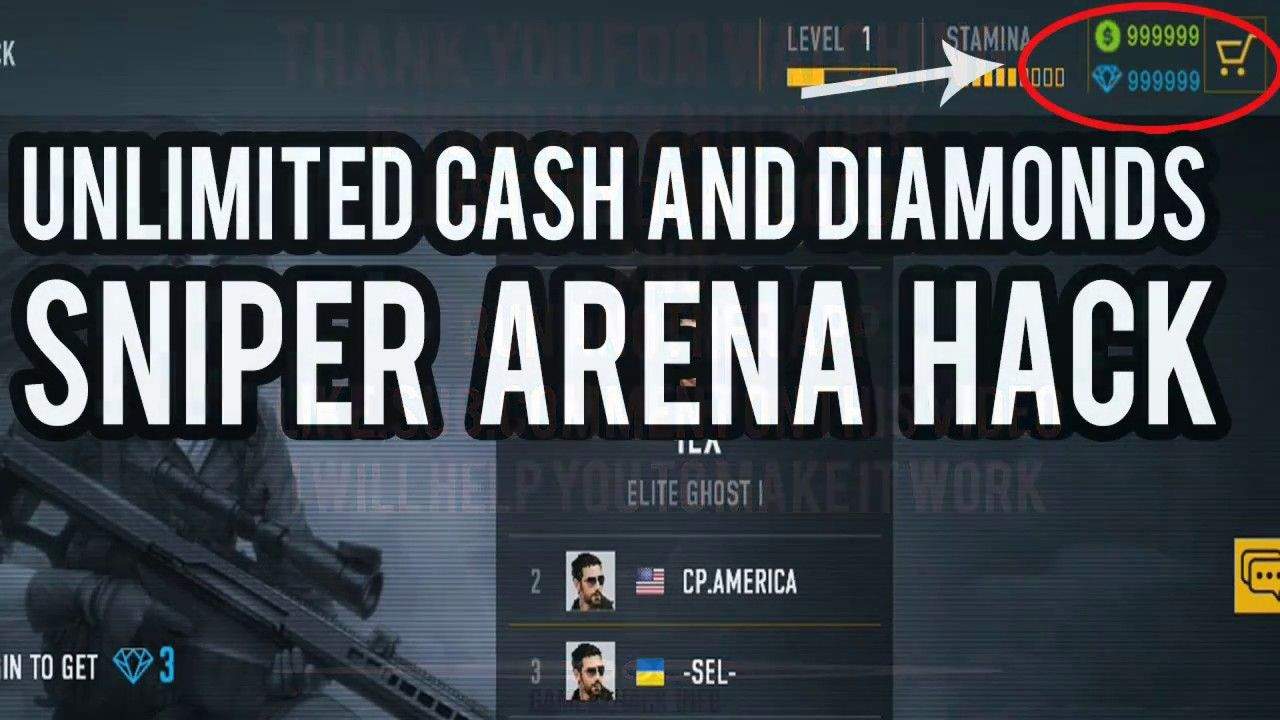 Sniper Arena Hack Unlimited Cash And Diamonds Cheats | Sniper, Hack free  money, Download hacks