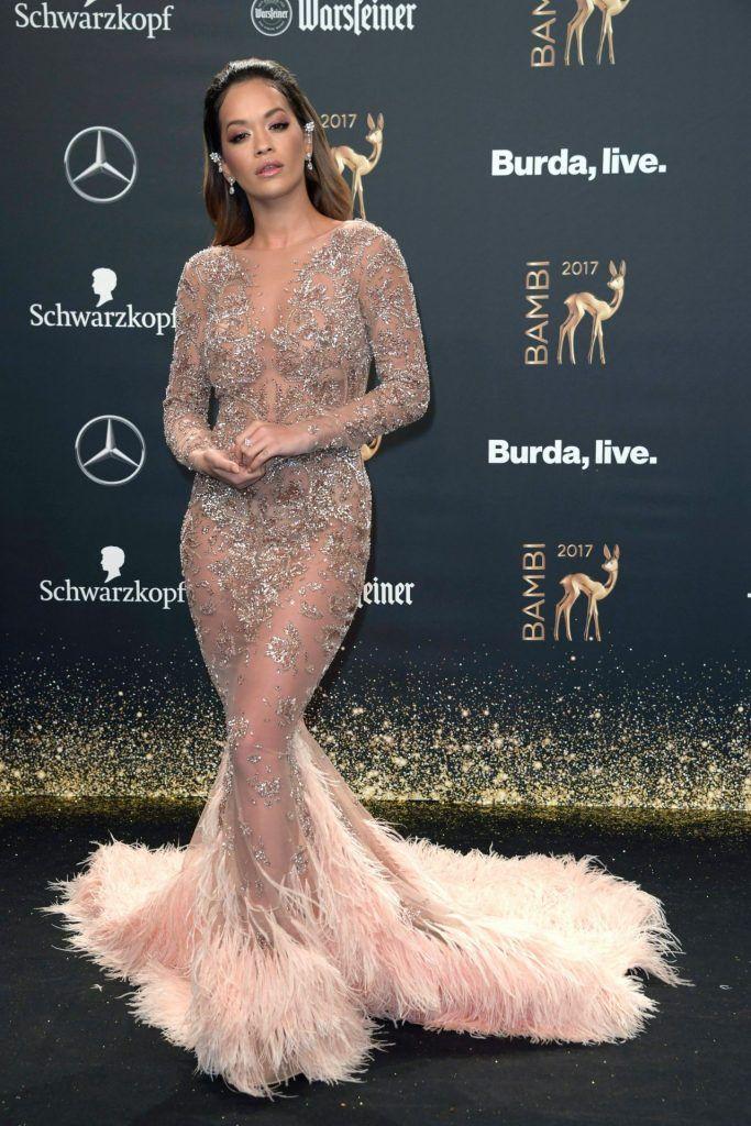 c0cf43d6502c Rita Ora In Zuhair Murad Couture – 2017 Bambi Awards