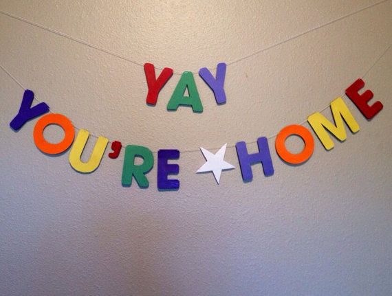 yay youre home banner welcome home banner on etsy 1500