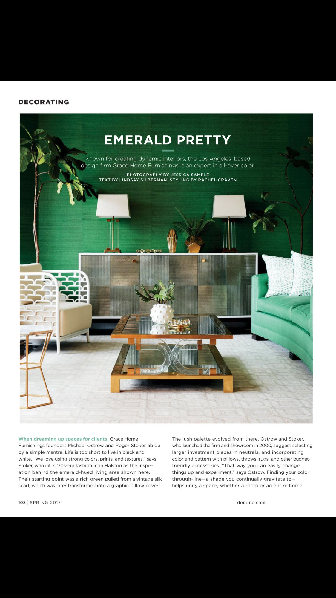 emerald pretty from domino spring 2017 read it on the texture app rh br pinterest com