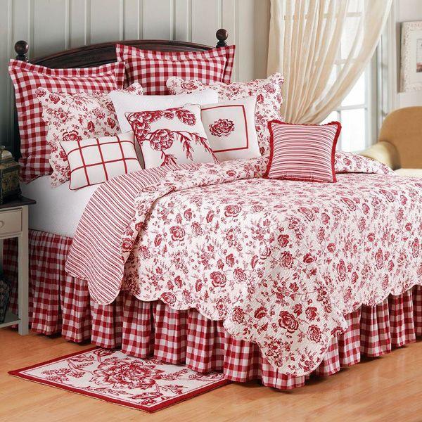 Williamsburg Devon Cranberry Bedding By Williamsburg Country Bedroom Country Bedding Sets Home