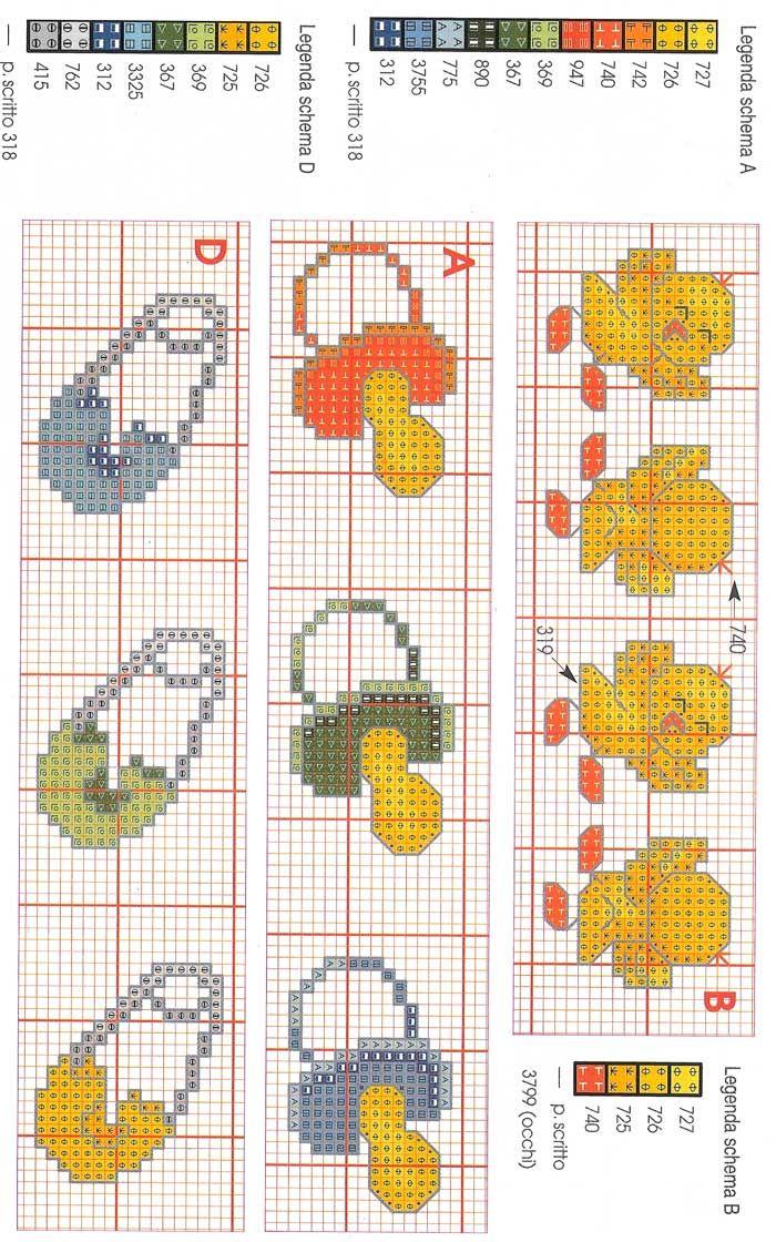 Baby bordi punto croce punto croce punto de cruz for Bordi punto croce