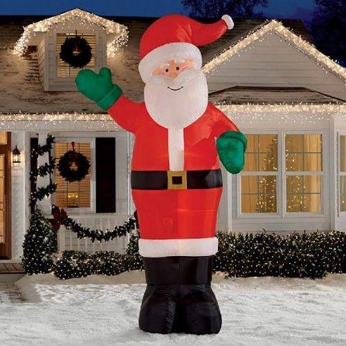 Christmas Inflatable Giant 12\u0027 Waving Santa By Gemmy, Multi