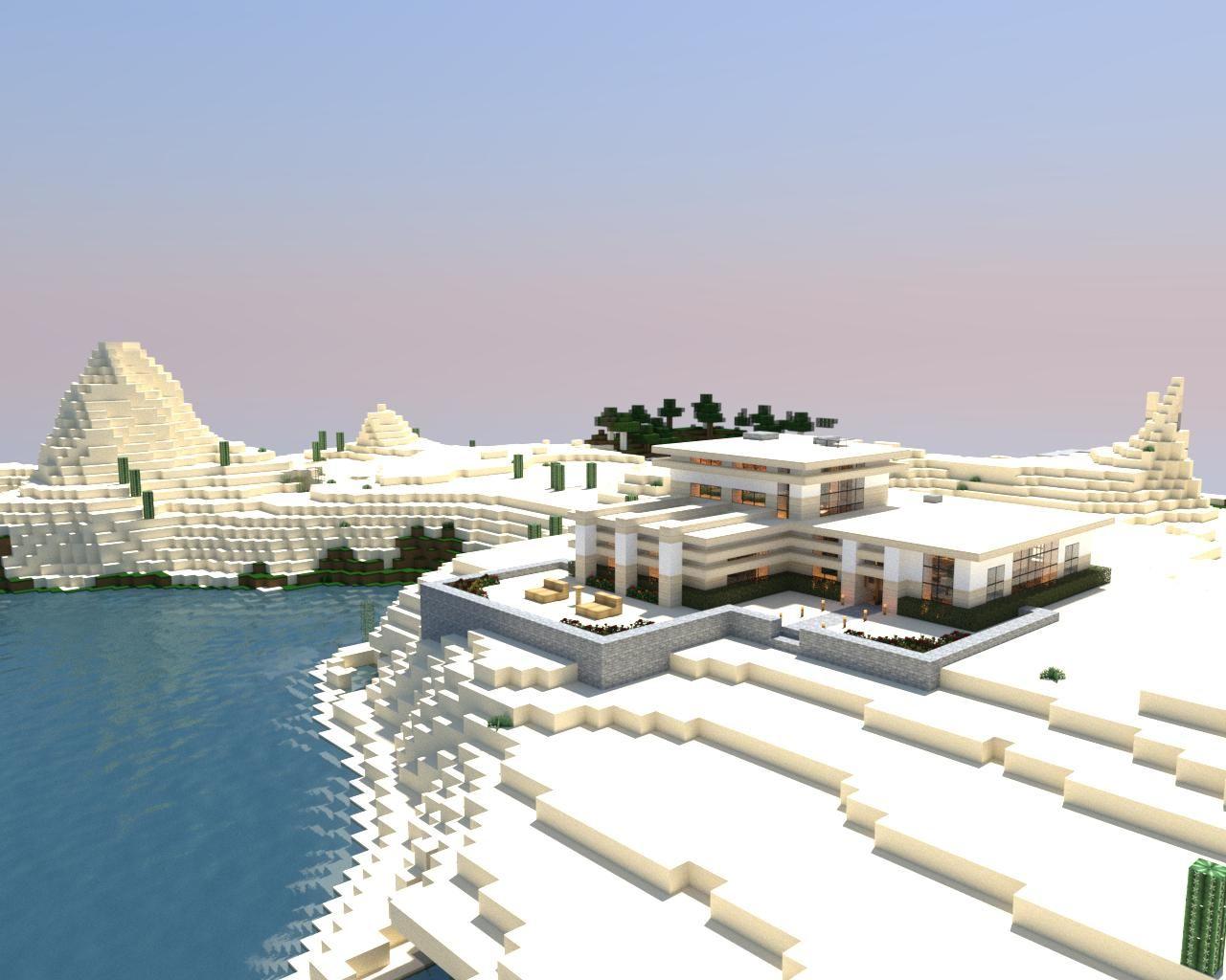 Modern Minecraft Desert Home | Modern Minecraft | Pinterest ...