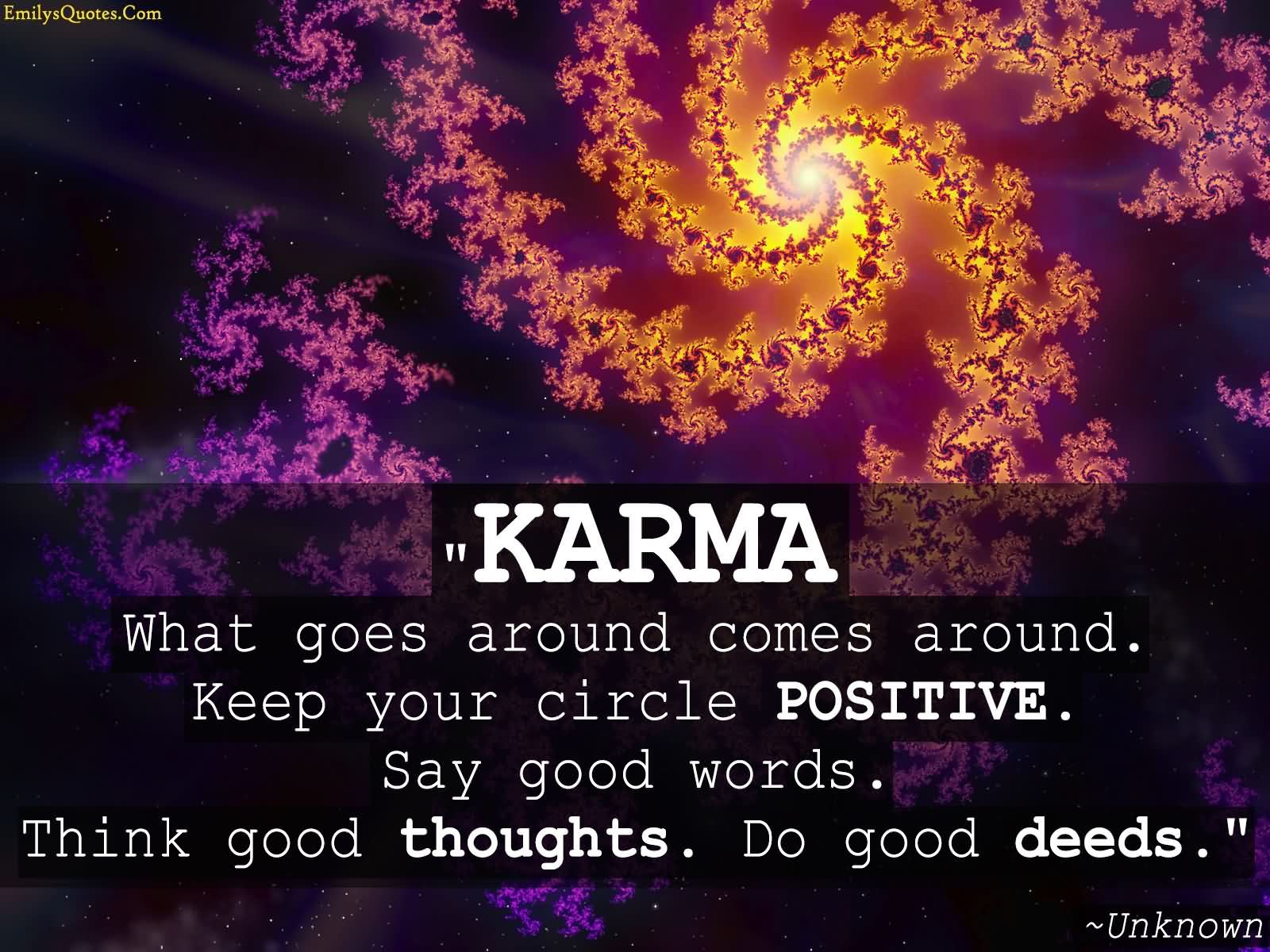 Keep Your Circle Positive: Say Good Words, Think