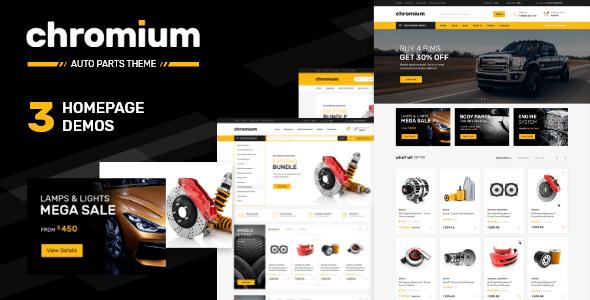 Chromium — Auto Parts Online Store Premium Shopify Theme