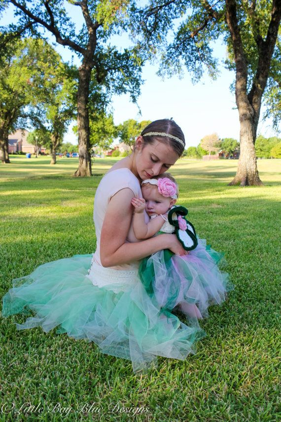 Mommy & Me Tutus Matching Dress and Skirt by LittleBayBlueDesigns