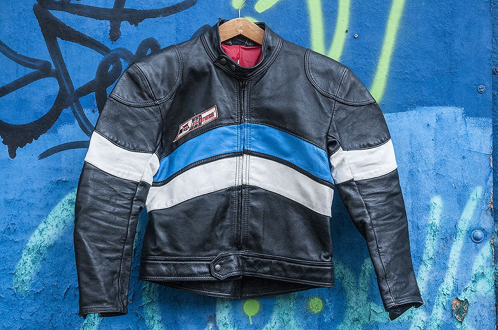 check out 12d75 0745e Giacca pelle DAINESE VINTAGE ANNI 80 CAFE' RACER Giubbotto ...