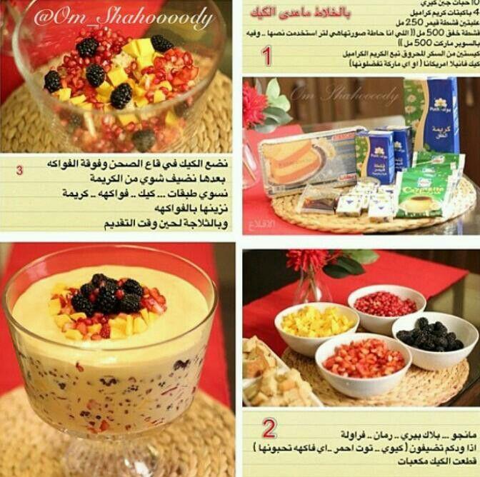 حلا الفواكه Libyan Food Dessert Recipes Recipes