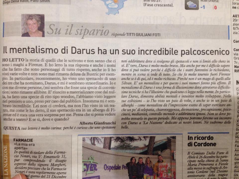 www.darus.it mentalista Darus