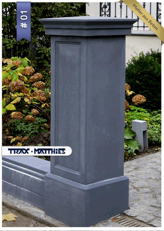 zaun- und #torpfeiler aus beton / classical gate #piers #garten, Gartenarbeit ideen