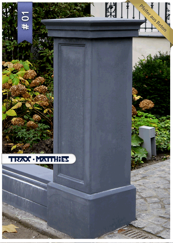 Zaun  Und #Torpfeiler Aus Beton / Classical Gate #Piers #Garten #Haus