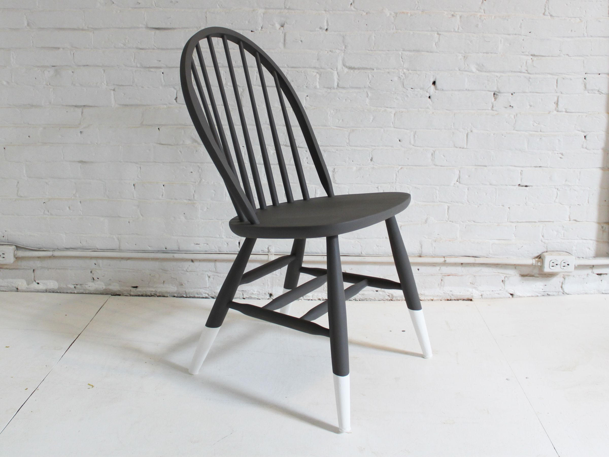 A new paint job can turn your old wooden chair a fun, brand new look!