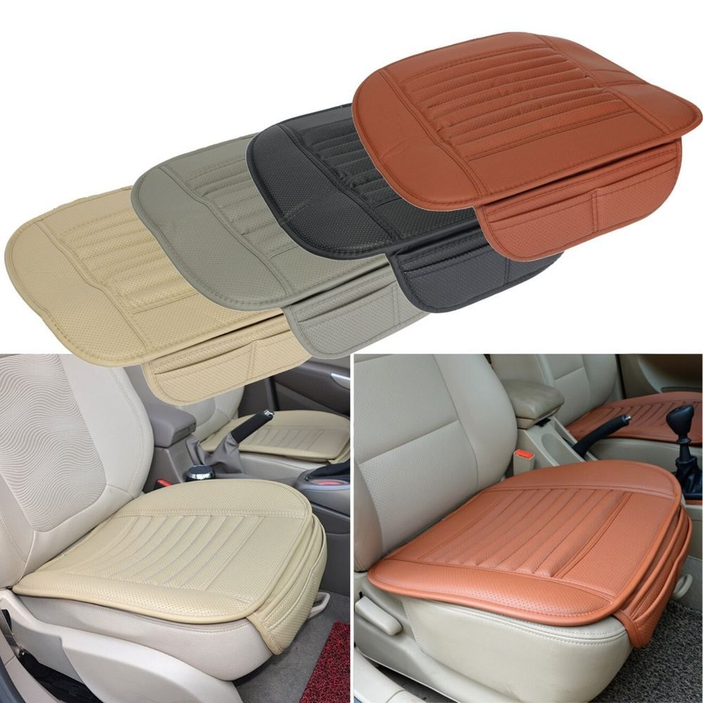 Universal Seatpad PU Leather Car Seat Covers For Auto Office Chairs Interior New