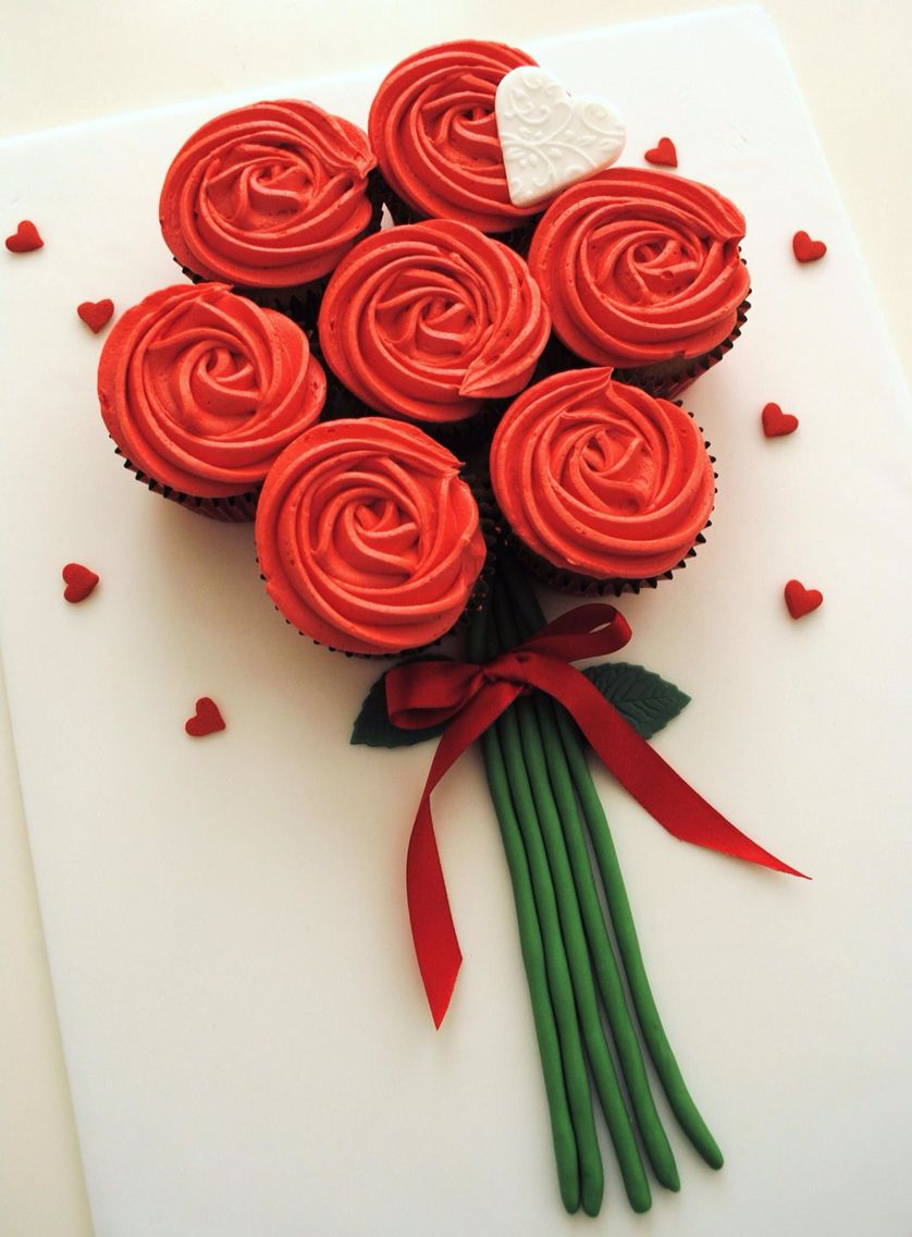 Cupcake Roses Cupcake Flower Bouquets Valentines Cupcakes Flower Cupcakes