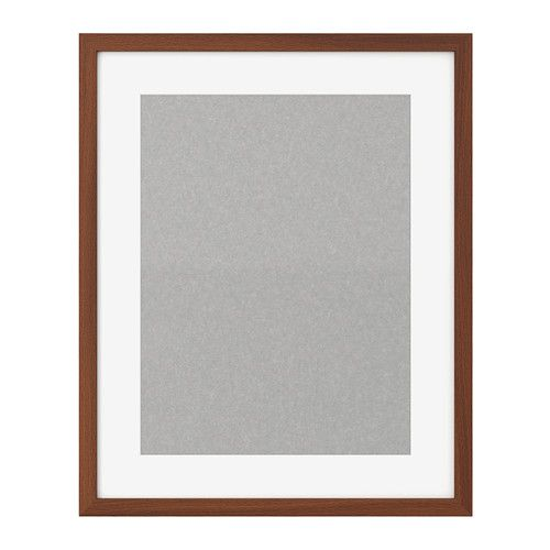 ikea ribba frame medium brown you can enhance and add depth to your picture by using the accompanying mount when you frame it