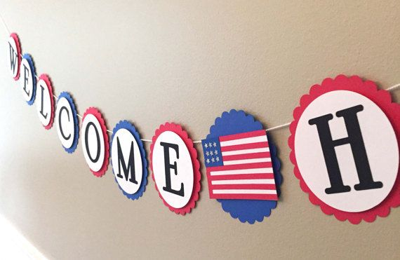 Welcome Home Banner Custom Name Military By AshleyAnnaMarie