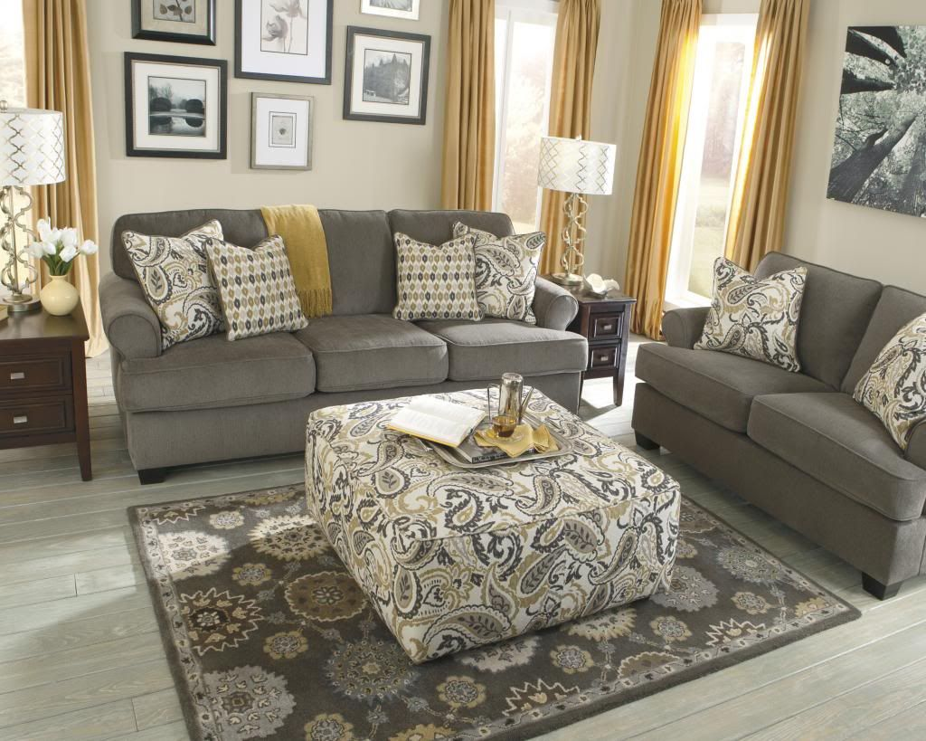 Grey And Yellow Living Room Pinteres